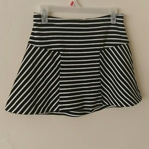 Candie's Striped Mini Skirt